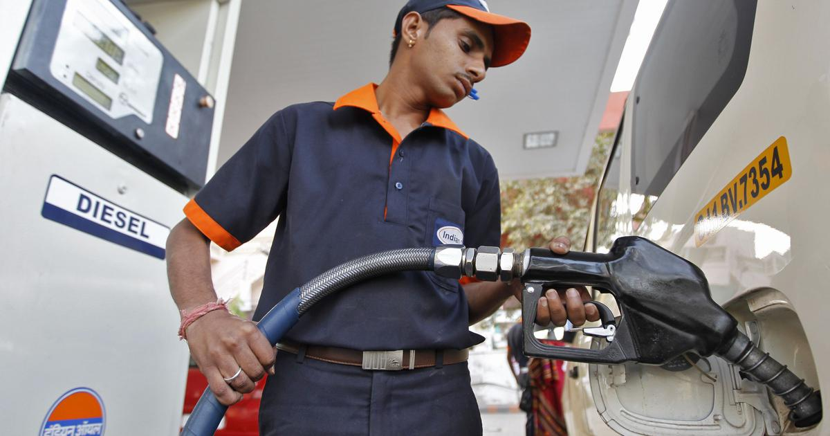 Petrol prices drop by 8 paise after two days, no cut in diesel rates