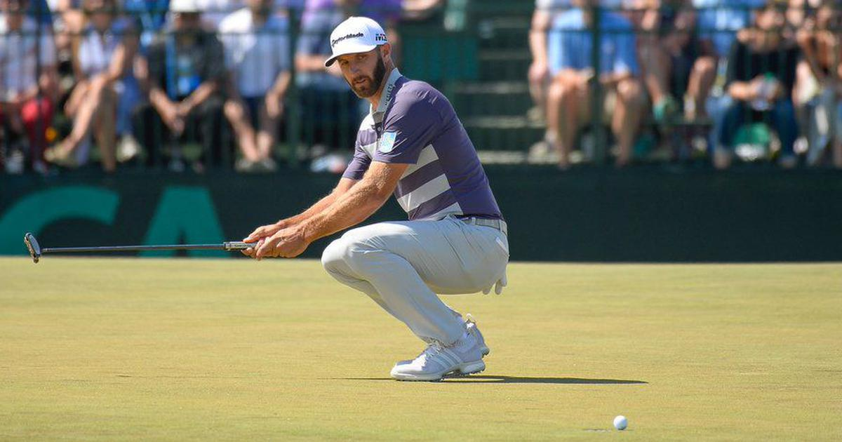 US Open: Dustin Johnson shares lead with three others on a tough day at Shinnecock Hills