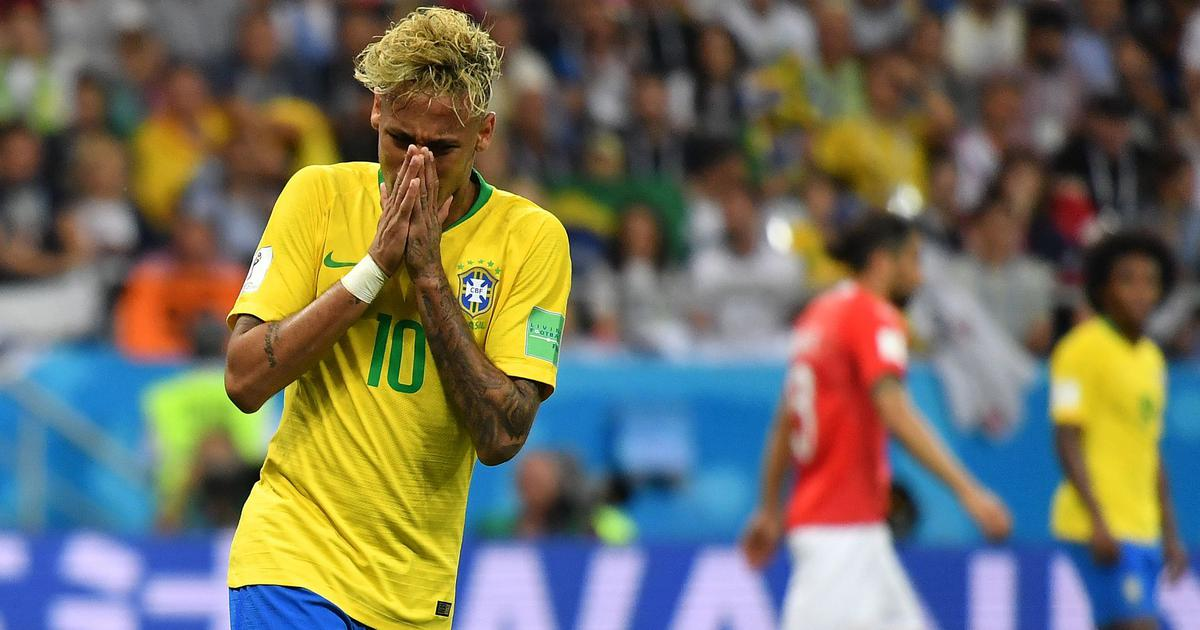 World Cup 2018: Neymar marked out by uncompromising Switzerland as Brazil held to draw
