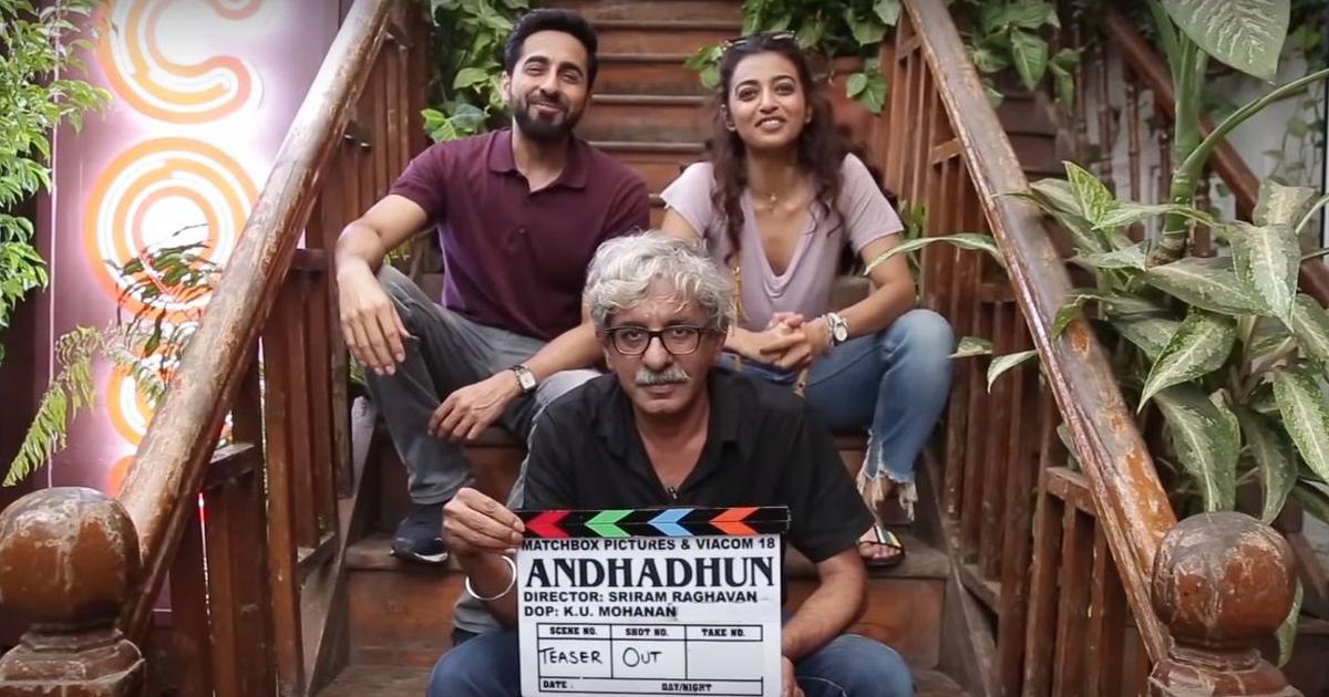 'Andhadun' is the title of Sriram Raghavan's next with Ayushman Khurrana and Radhika Apte