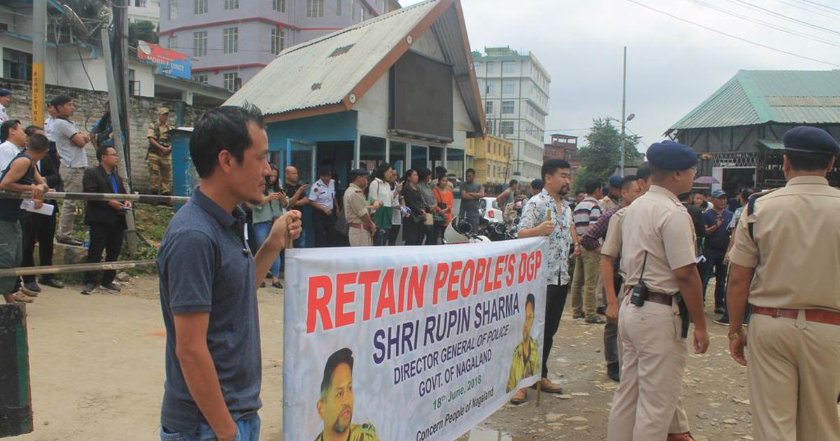 Nagaland's police chief faces removal but the public – and the police – are rallying to thwart it