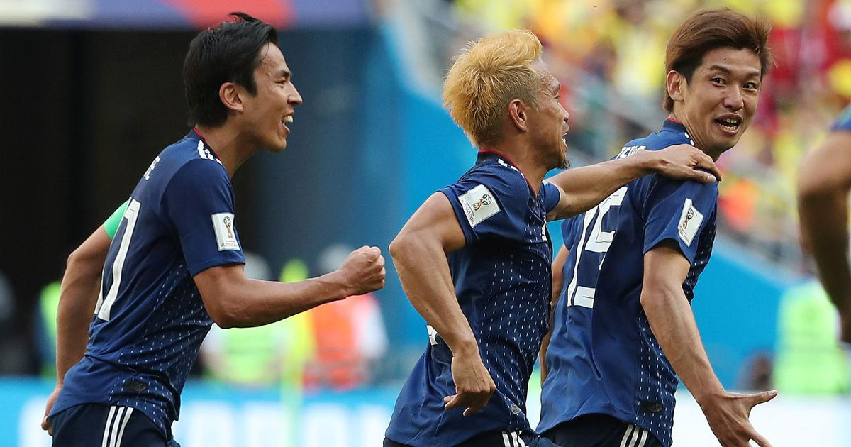 Fifa World Cup: Kagawa, Osako help Japan stun 10-man Colombia to register historic win