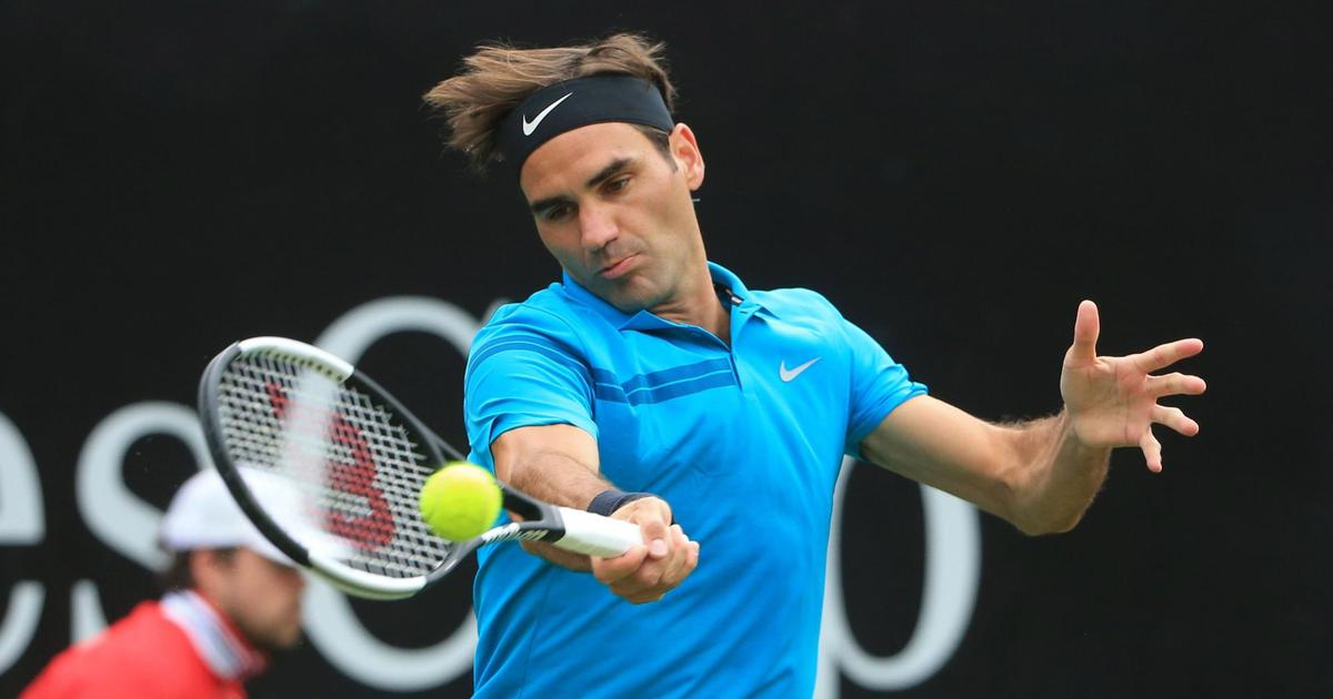 Roger Federer starts quest for 10th title in Halle with an easy win over Aljaz Bedene