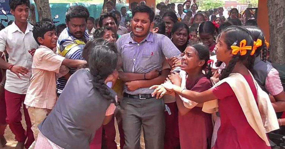 Viral photo of students weeping at TN teacher's transfer shows what's wrong with education in India