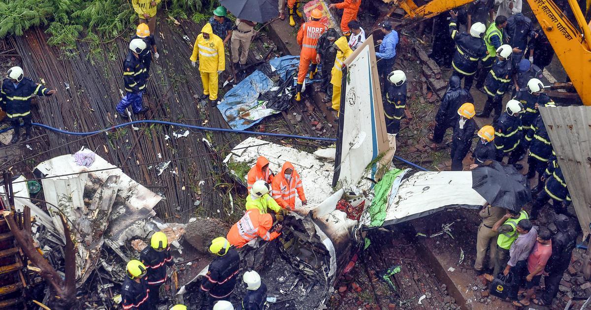 Mumbai: Five people killed after chartered plane crashes in Ghatkopar, blackbox found