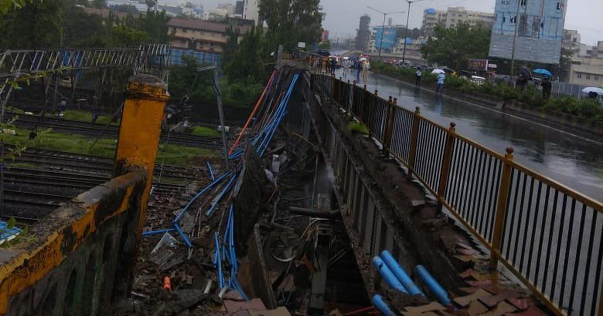 Mumbai: Part of overhead bridge collapses at Andheri station, five admitted to hospital