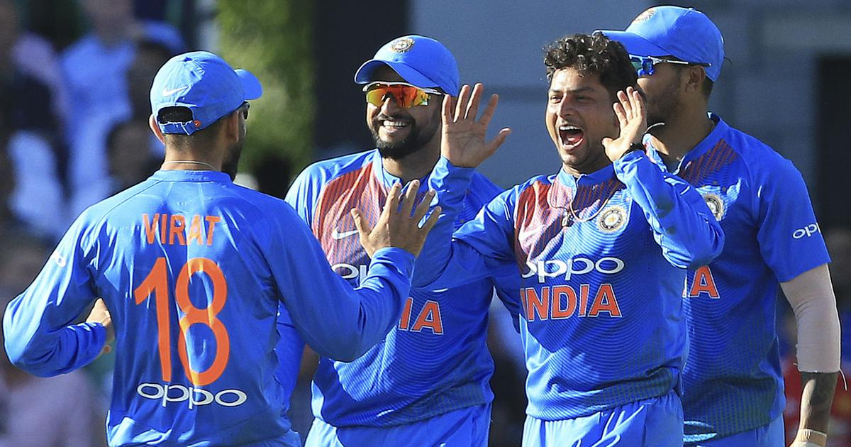 Kuldeep five-for, Rahul ton power India to 8-wicket win over England in first T20I
