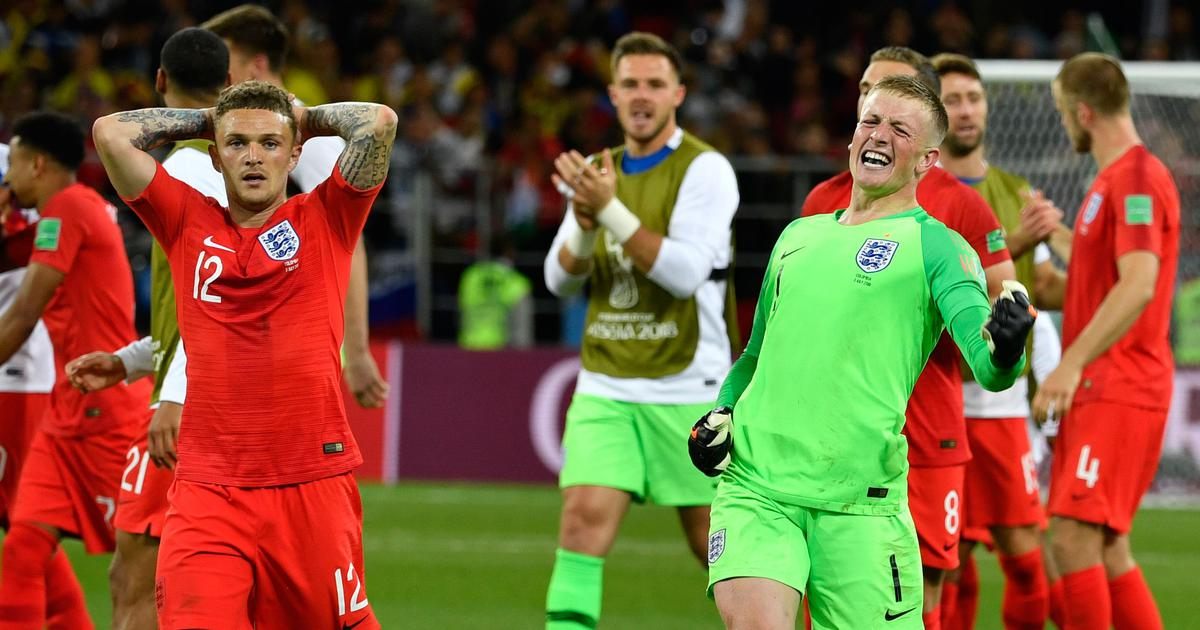 'So that's what it feels like': Twitter goes berserk as England finally win a World Cup shootout