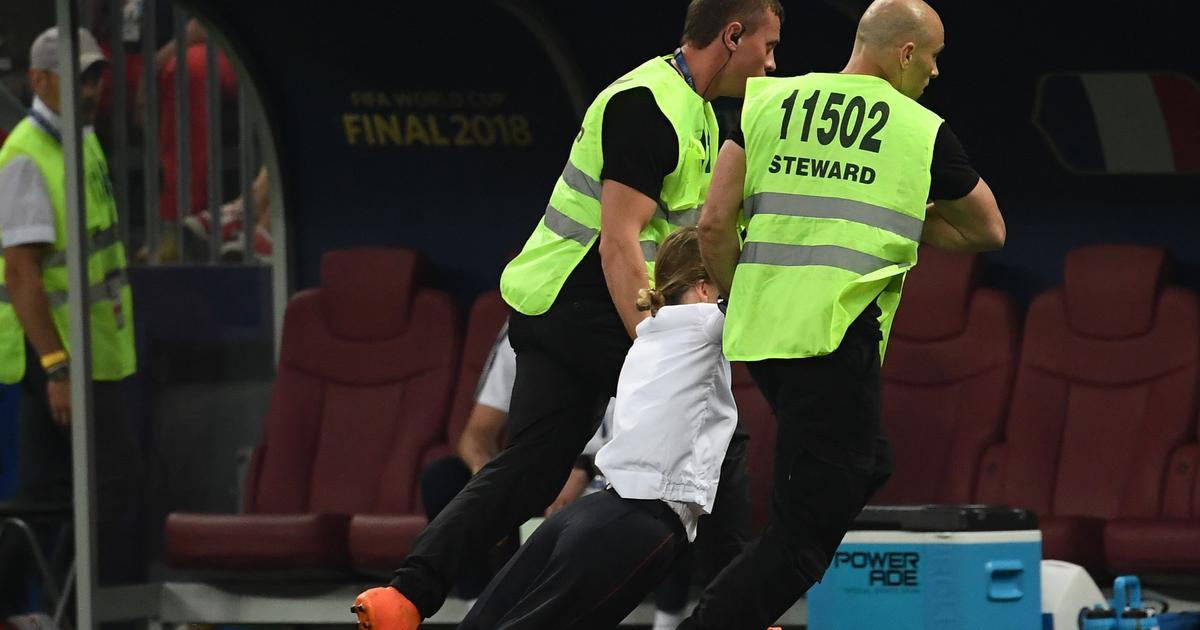 Russian protest group Pussy Riot claims responsibility for pitch invasion during World Cup final