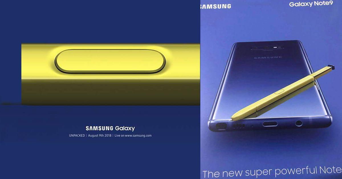 Samsung S Flagship Galaxy Note 9 Price Leaked Official Launch On August 9th
