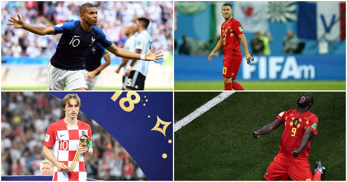 World Cup: Lukaku, Mbappe, Modric, Hazard make team of the tournament