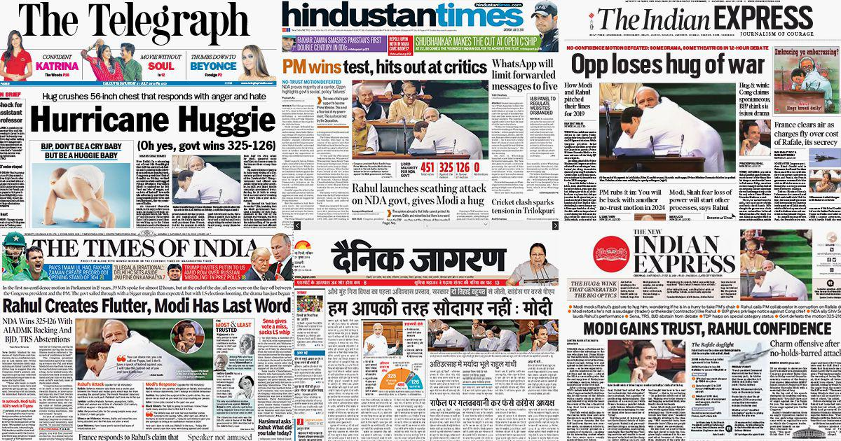 'Modi gains trust, Rahul confidence': Gandhi's embrace and wink make headlines across the nation