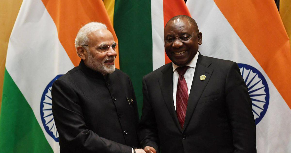 Narendra Modi meets South African President Cyril Ramaphosa on sidelines of BRICS summit