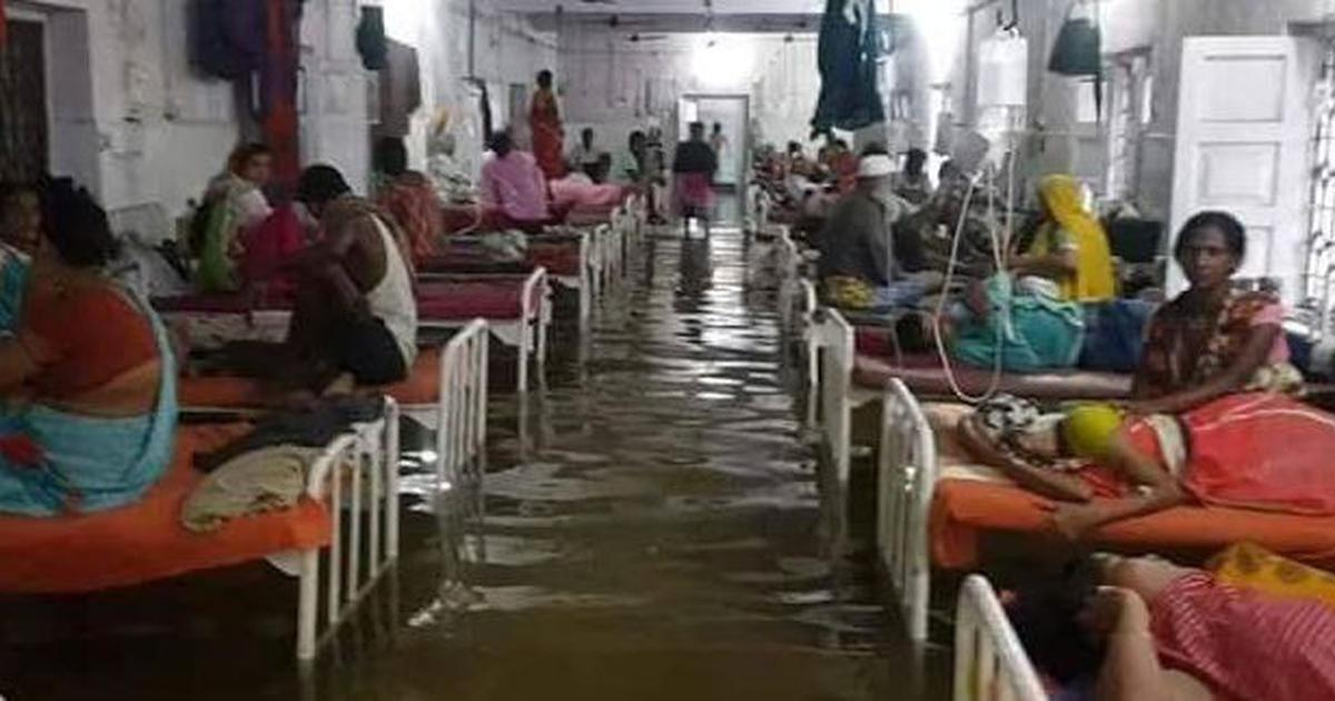Watch: Fish swim around water-logged Patna hospital's ICU after rain lashes city