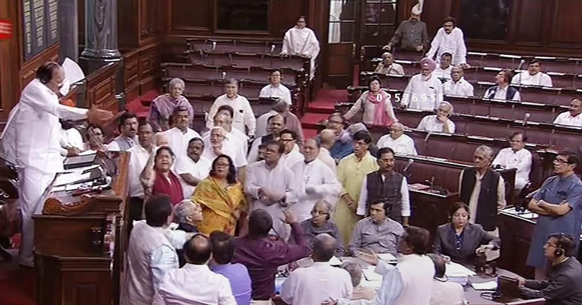 Monsoon Session: Rajya Sabha adjourned for the day after Opposition MPs protest against NRC draft