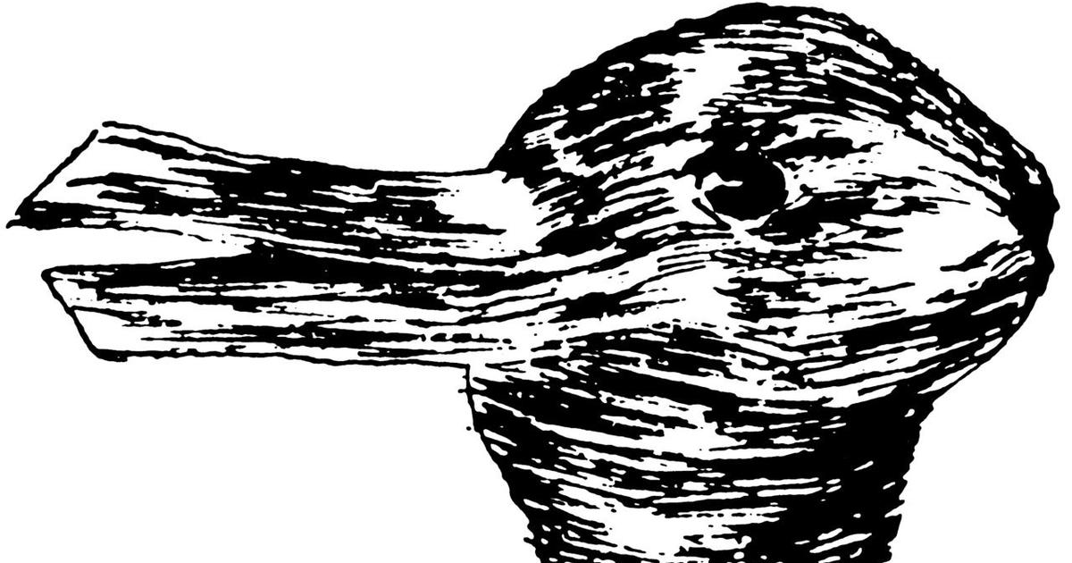 Is it a duck or a rabbit? The philosophical underpinning of an old visual trick