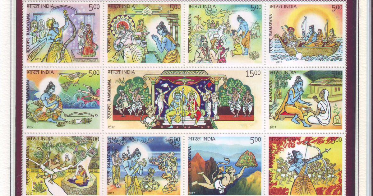 A philatelist's love for the 'Ramayana' has led her to build a collection based on the Hindu epic