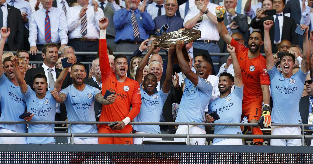 Aguero double ruins Sarri's Chelsea bow as Manchester City clinch Community Shield