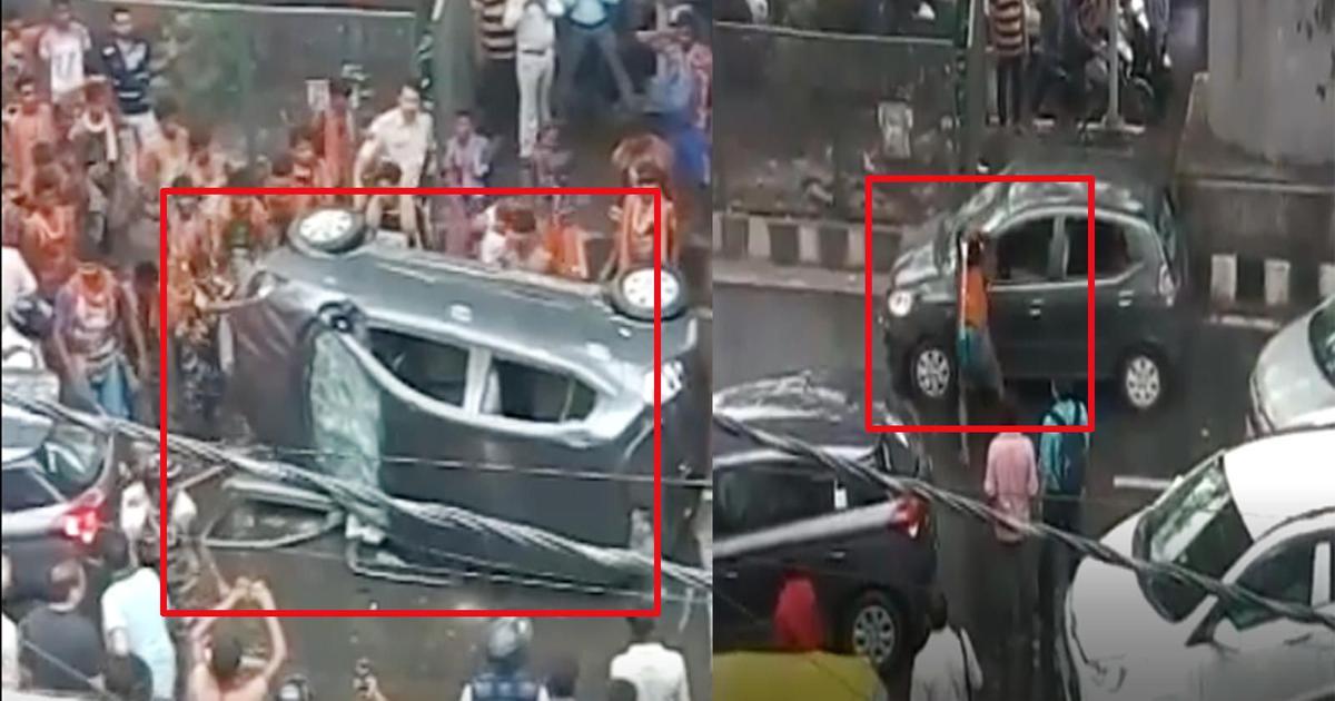 Kanwariya violence: Nine more people arrested for vandalising a car in Delhi's Moti Nagar last week