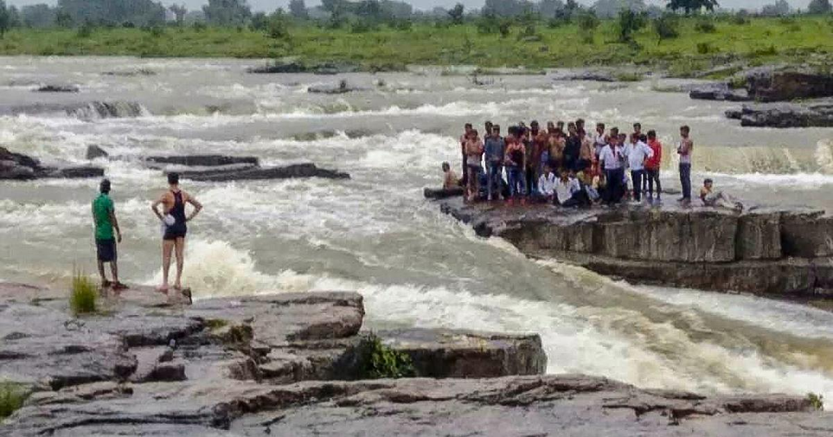 Madhya Pradesh: 45 tourists stranded at waterfall in Shivpuri rescued, some still missing