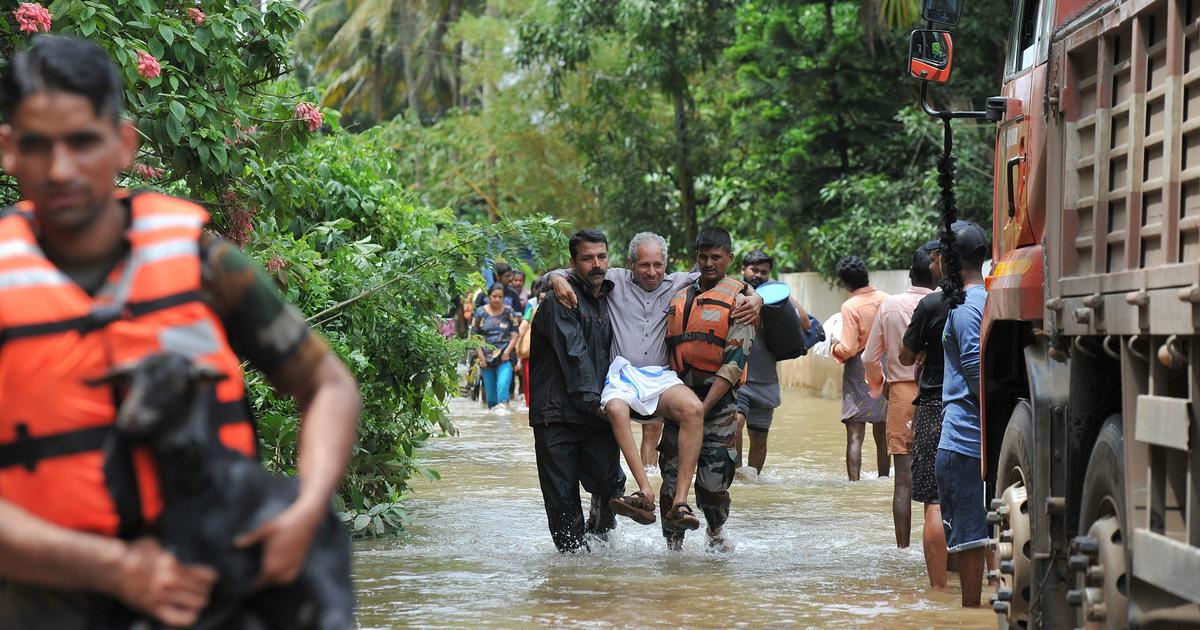 Kerala floods: In villages near the Kole wetlands, relief camps fill up as the rain eases