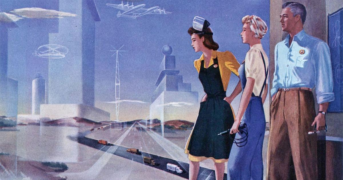From self-driving cars to robots: How artists in the 20th century visualised the future