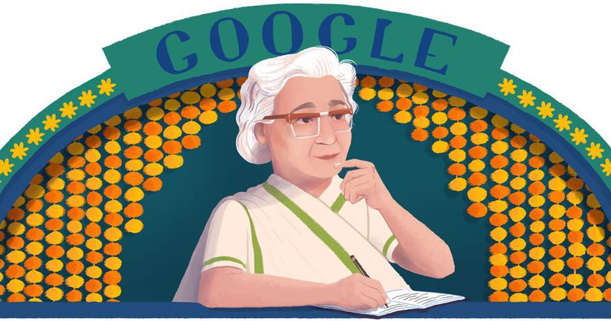 Google celebrates 107th birthday of Urdu author Ismat Chughtai with a doodle