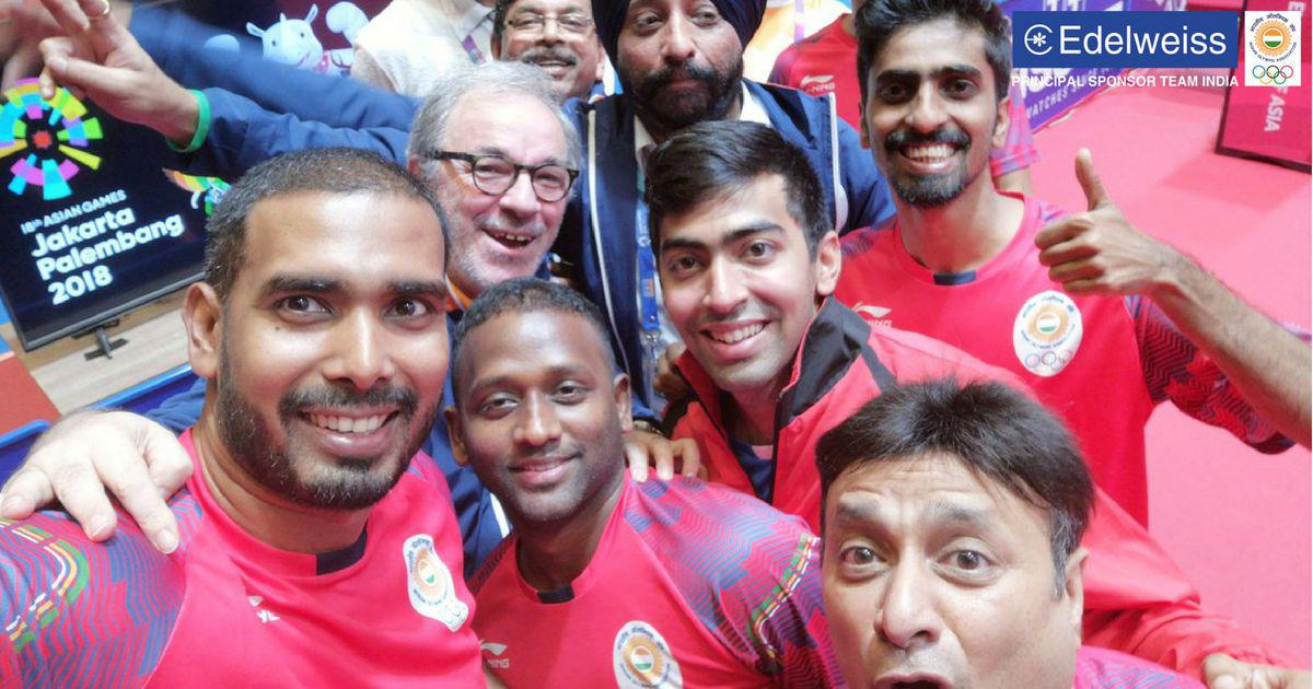 Asian Games 2018: Men's table tennis team ensure India's first ever Asiad medal with win over Japan