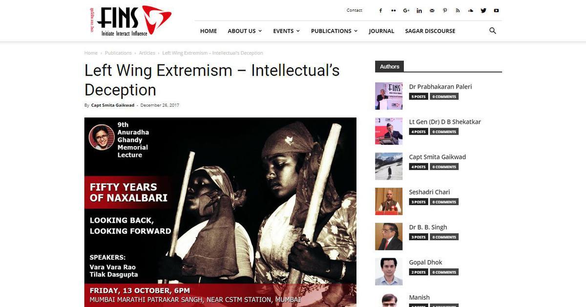 Bhima Koregaon case: A curiously prescient report puts focus on a Mumbai security think tank