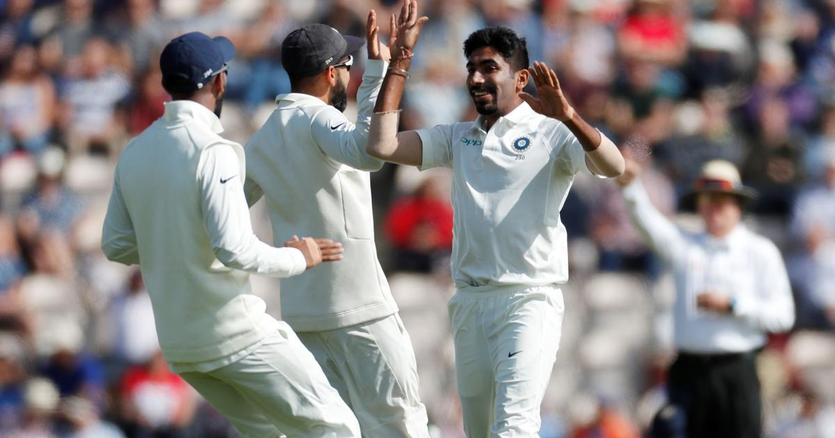 Bumrah-led pace attack helps India take day one honours as England are dismissed for 246