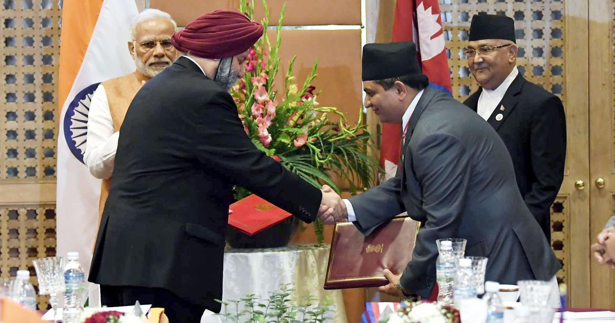 India and Nepal sign agreement to build railway line between Kathmandu and Bihar's Raxaul