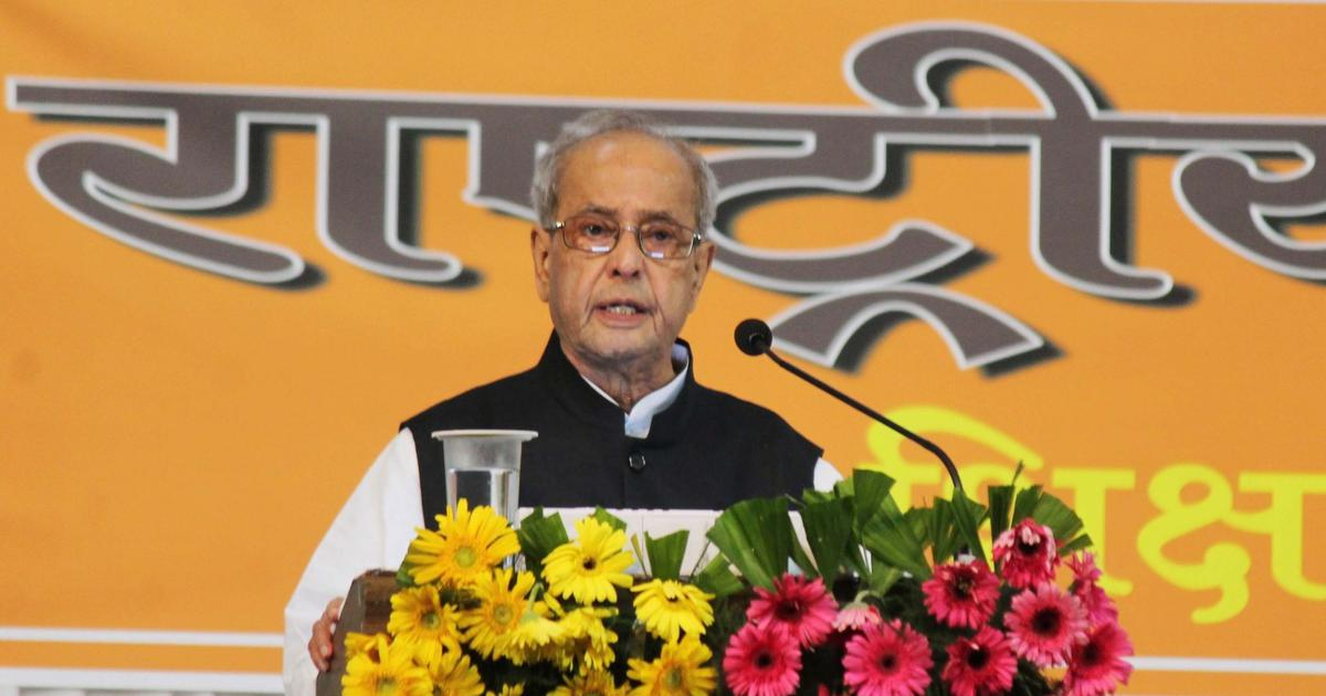 Pranab Mukherjee rejects report that said his foundation is collaborating with RSS in Haryana