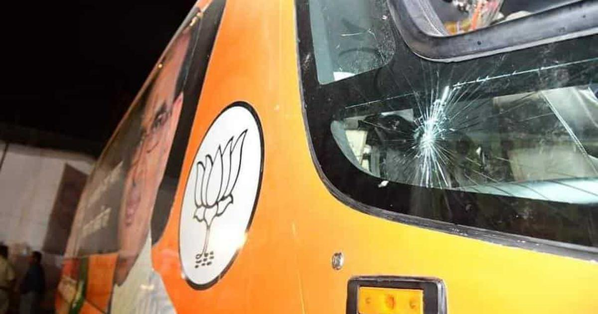 Madhya Pradesh: Stones hurled at Shivraj Singh Chouhan's vehicle in Churhat, CM escapes unhurt