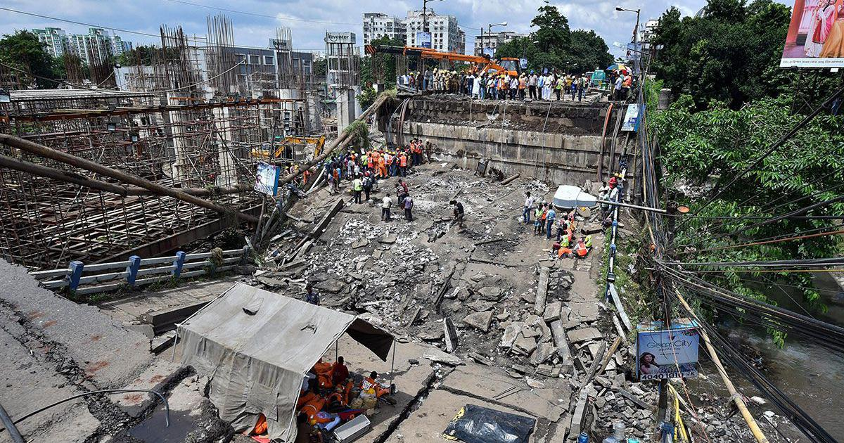 'All they did was paint it blue': Day after Kolkata bridge crash, anger mounts and blame game ensues