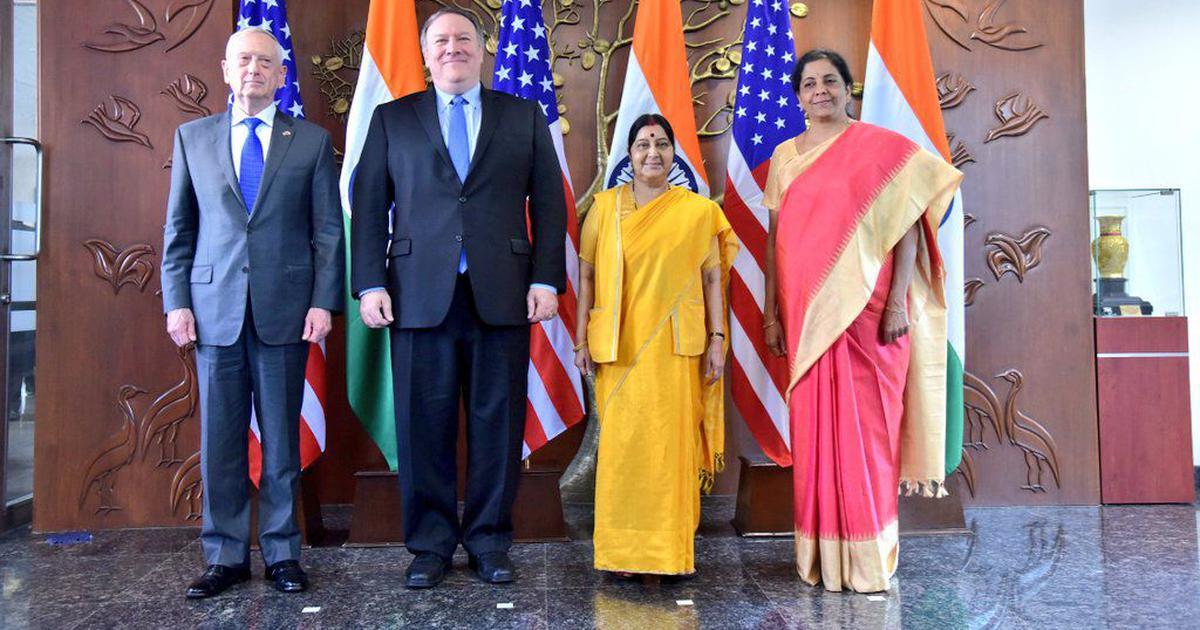Sushma Swaraj and Nirmala Sitharaman meet US counterparts in first '2+2 dialogue' to improve ties