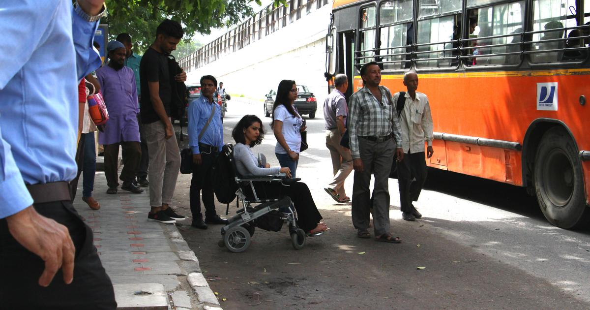 In photos: Why wheelchair users in Delhi find it difficult to use buses, even low-floor ones