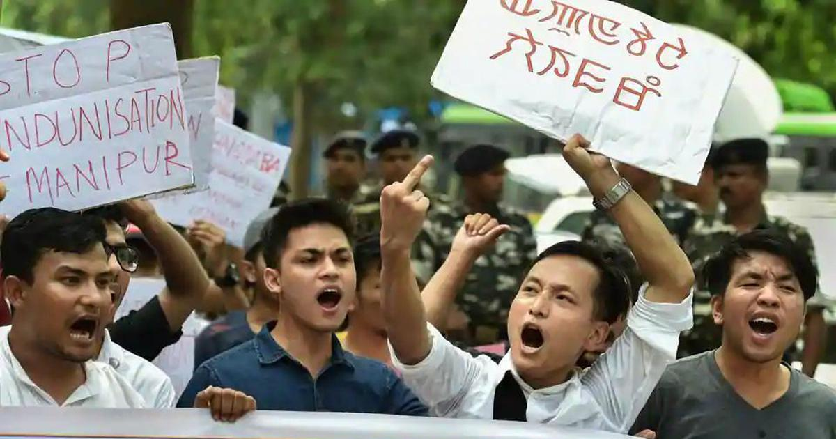 'Like a war zone': State police cracks down on Manipur University protesters