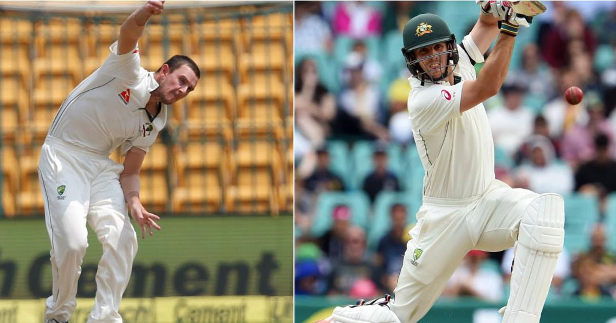 Double whammy: In a first, Mitchell Marsh and Hazlewood named joint vice-captains of Australia