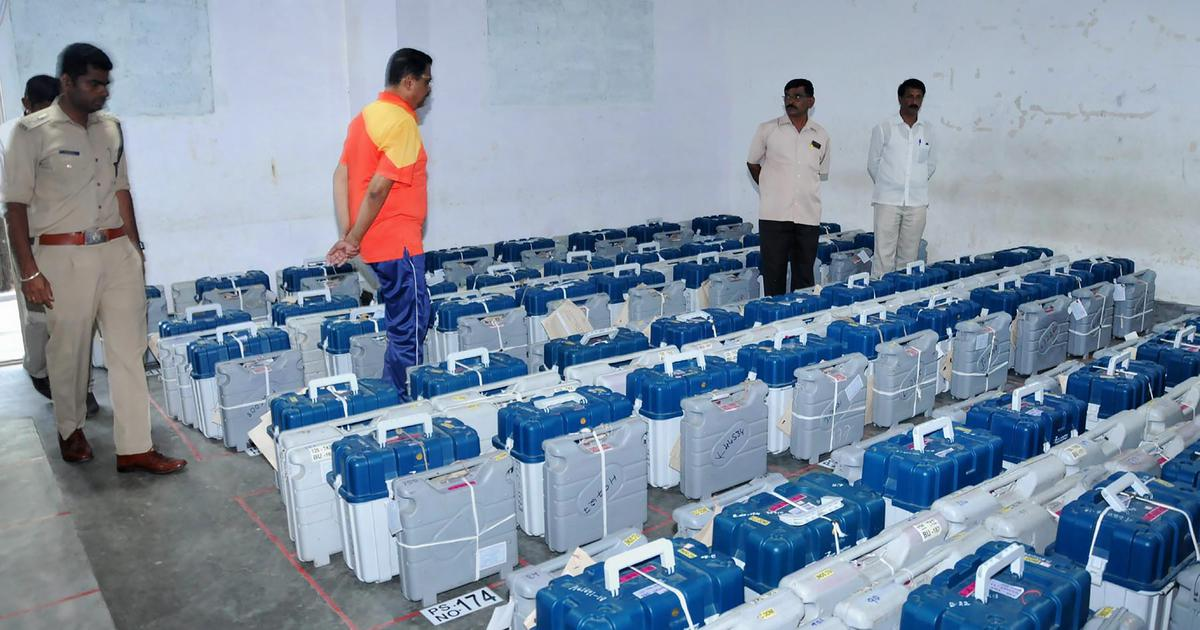 MP polls: Election Commission admits CCTV cameras failed for over an hour in EVM strongroom