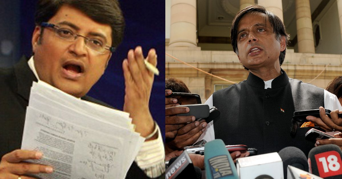 Criminal defamation case against Arnab Goswami stayed by Kerala HC, notice issued to Shashi Tharoor