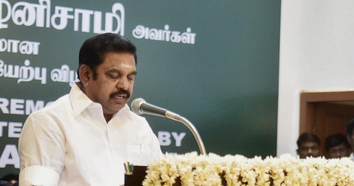 Jayalalithaa estate theft: Tamil Nadu CM Edappadi Palaniswami sues journalist for defamation