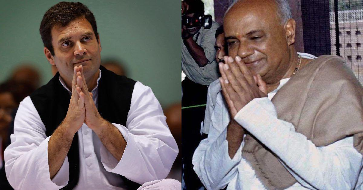 Lok Sabha elections: Congress chief Rahul Gandhi, JD(S) leader HD Deve Gowda discuss seat-sharing