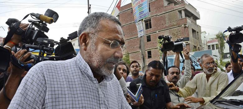 Bihar: BJP's Giriraj Singh surrenders before court for remark against Muslims, gets bail
