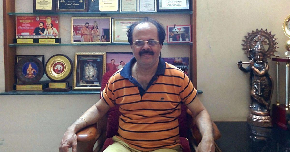 Veteran Tamil writer and actor 'Crazy' Mohan dies at 67