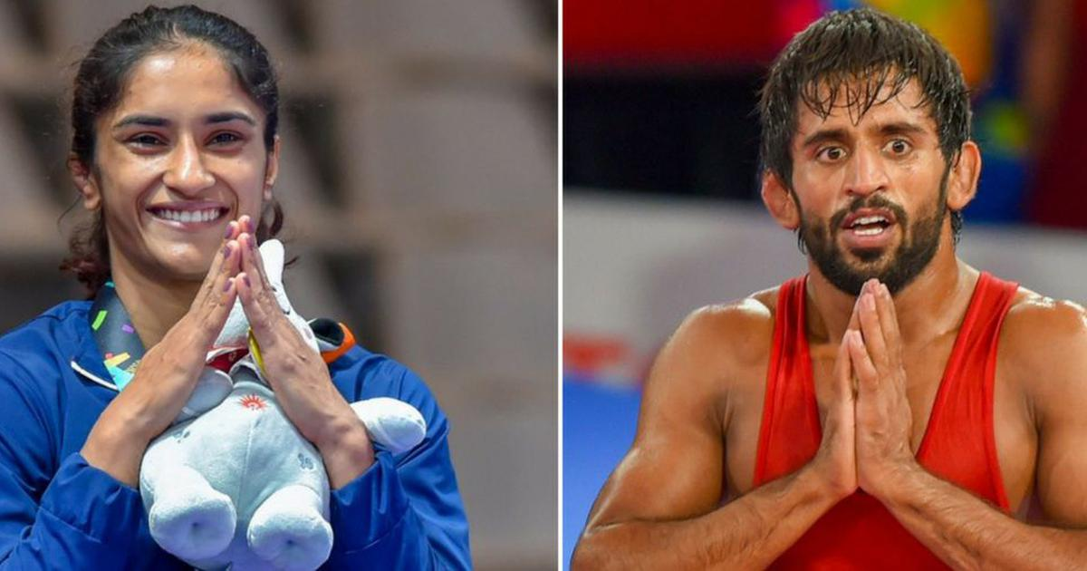 Wrestling: No exemption to Vinesh Phogat, Bajrang Punia for World C'ships trials, says WFI