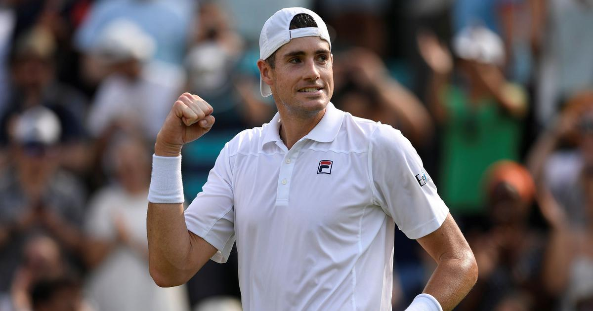 Wildcard top seed Isner fights from set down to book Newport semi-final clash with Humbert