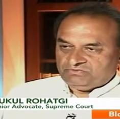 What is standing in the way of Mukul Rohatgi's appointment as Attorney General?