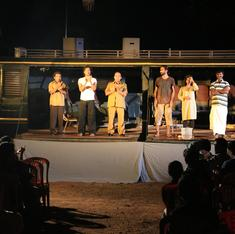 Bus becomes stage as Kerala troupe takes performing arts to the people