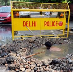 Some unanticipated results of Delhi state's political limbo: potholes, no new streetlights