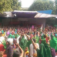Photos: Protestors from around India gather at Jantar Mantar as parliament starts